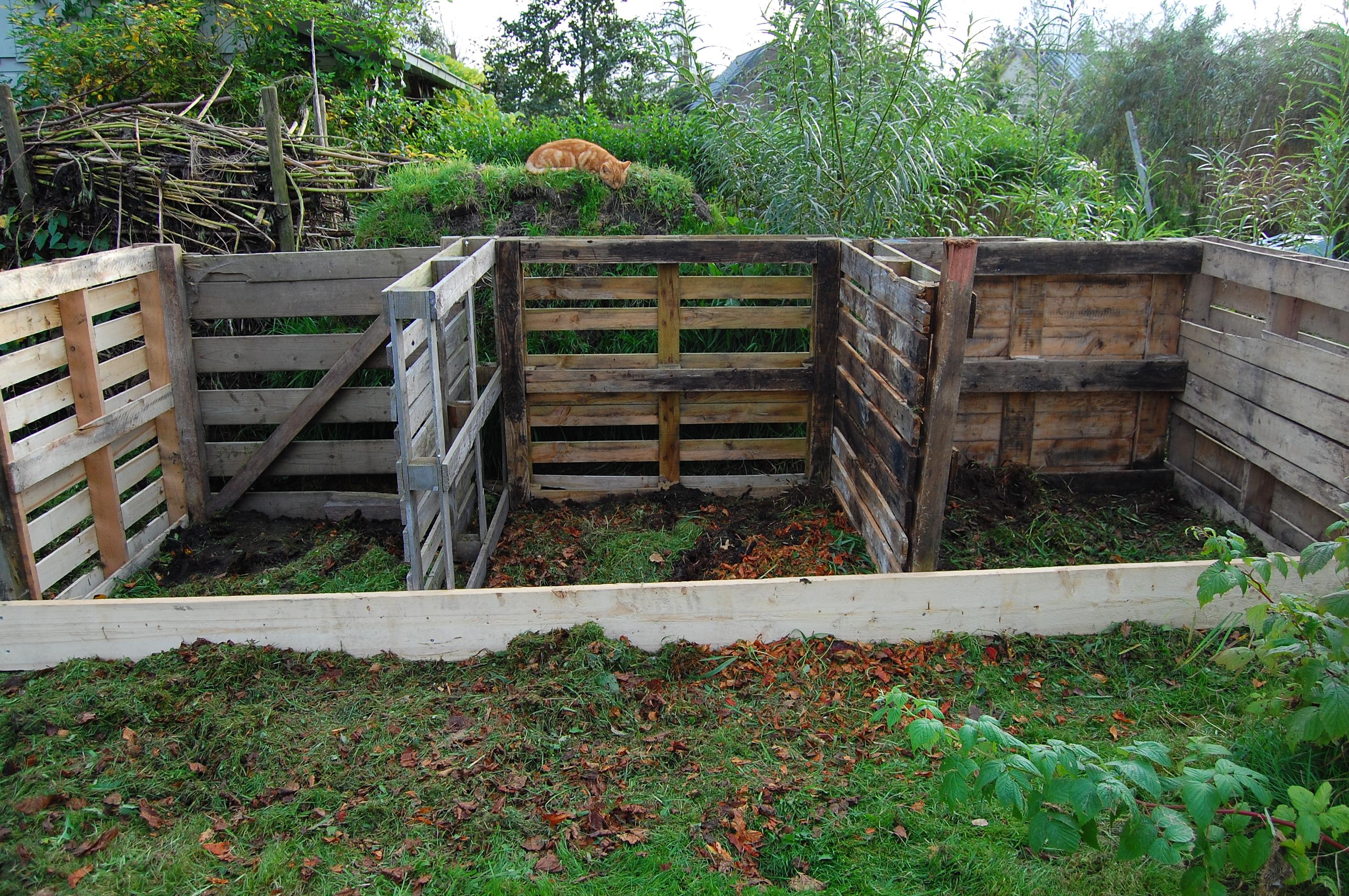 Nieuwe compostbakken